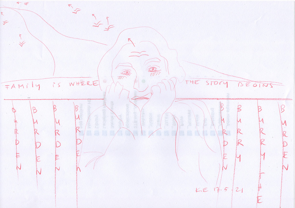 Kim Engelen, Family is where the story begins (Red Election Pencil 4 Year Drawing Project), 17 May 2021