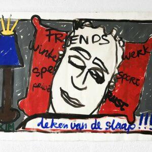 Kim Engelen, Deken van de Slaap (Sleeping Blanket), Acrylic on Canvas (unstretched), 1998