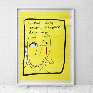 Kim Engelen, Ergere dicht nicht, wundere dich nur, Framed Silkscreen No.3/17, 1996
