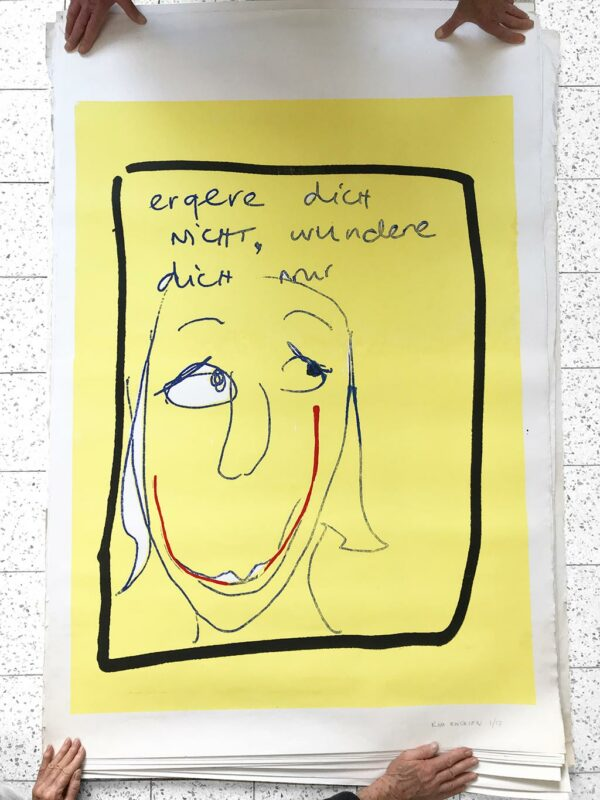 Kim Engelen, Ergere dicht nicht, wundere dich nur, Silkscreen No.1/17, 1996