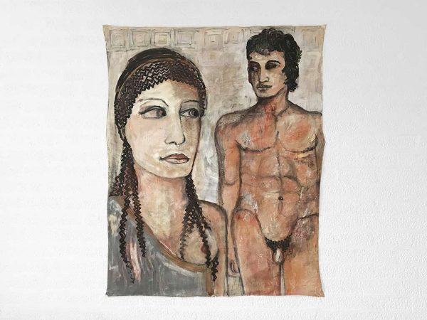 Kim Engelen, Greek-Style, Oil on Canvas, 1998