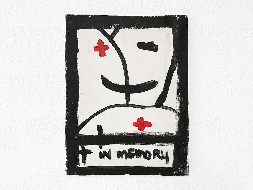 Kim Engelen, In Memory, Acryl on Regular Stretched Canvas, 1998