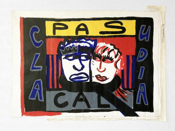 Kim Engelen, Pascal & Claudia, Acrylics on Canvas (Unstretched), 1998