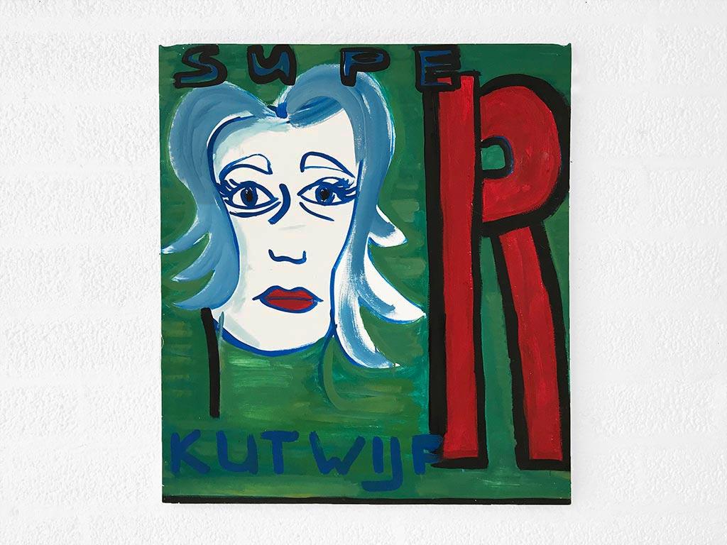 Kim Engelen, Super Kutwijf, Oil on Canvas, 1997