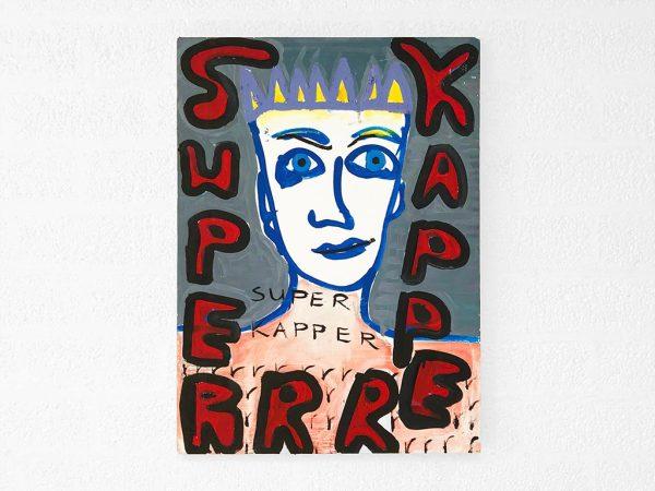 Kim Engelen, Superrr Kapper, Oil on Canvas, 1997