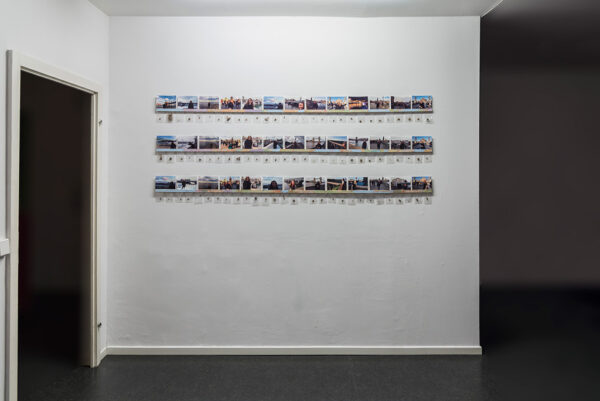 Kim Engelen, Artwork in the space-shot, Mistakes, Ongoing Bridge Project, Berlin, Germany, 2017