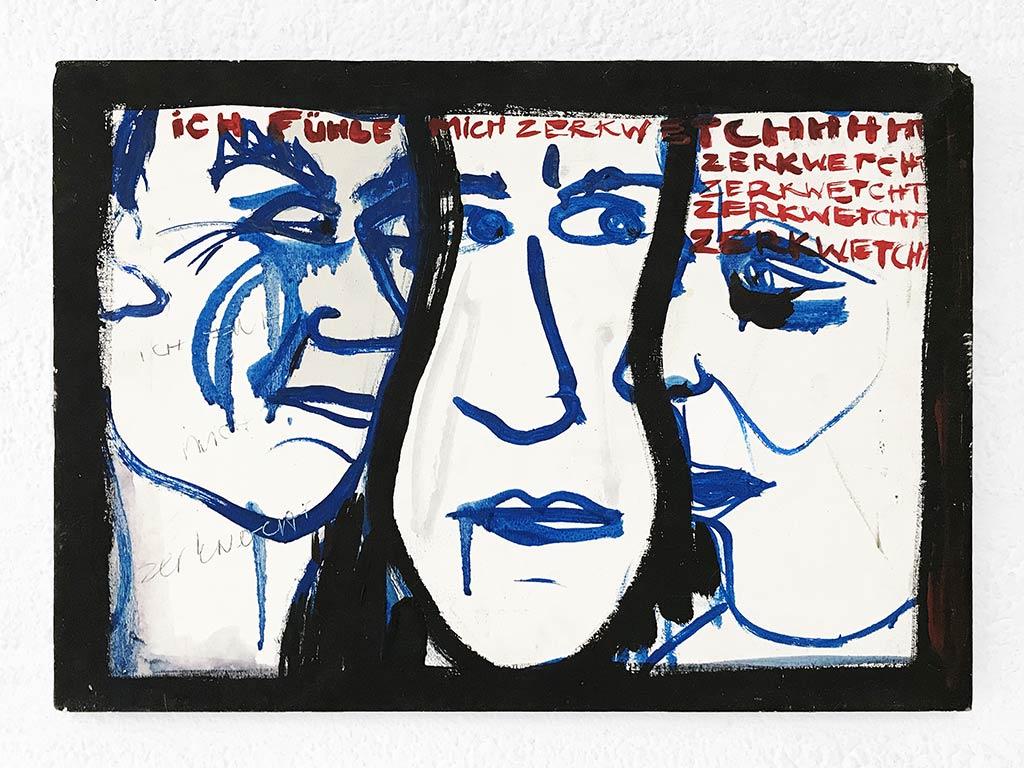 Kim Engelen, Zerkwetscht (Squeezed), Oil on Canvas, 1997