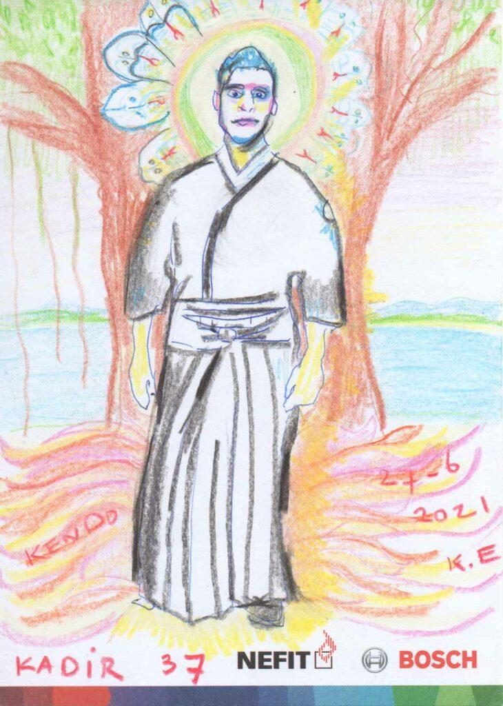 Kim Engelen, Drawing, Happy Birthday Kadir Altuner, 37 Years, 27 June 2021