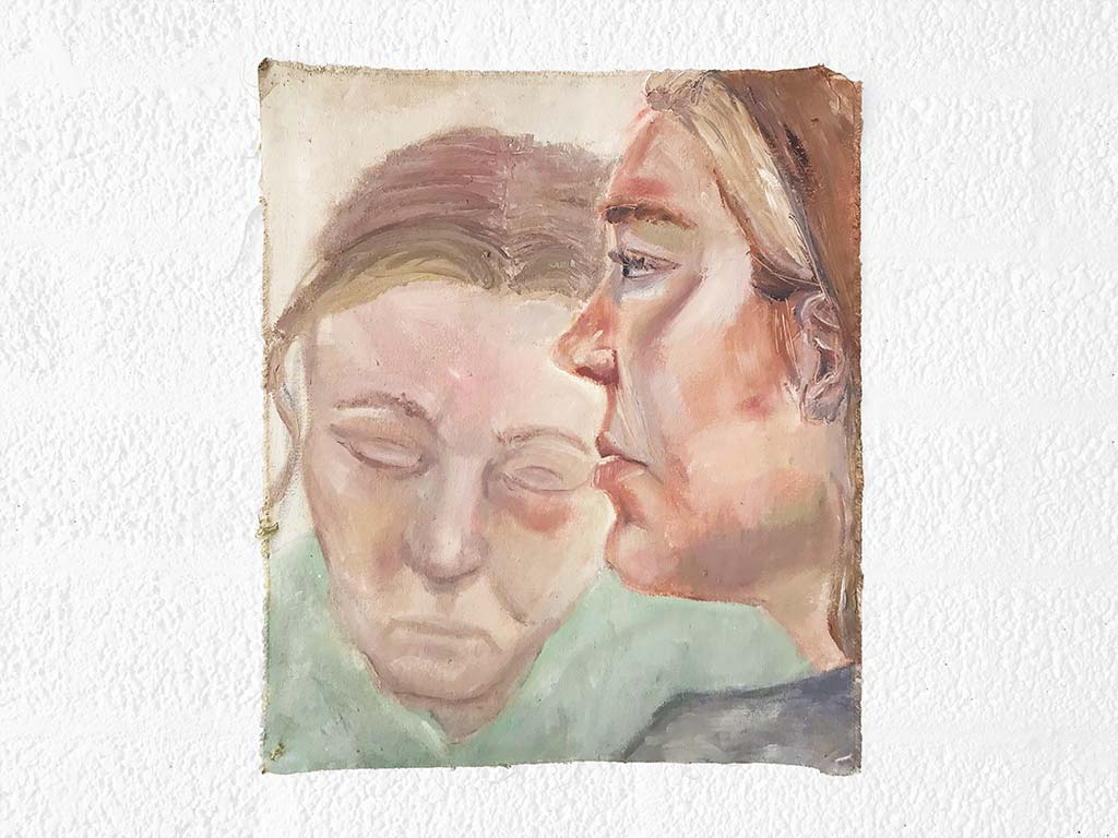 Kim Engelen, Sascha, Oil on Canvas, Unstretched, 1995