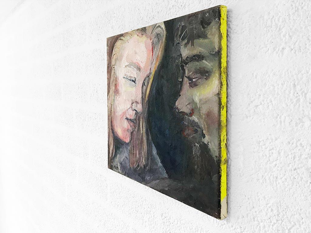 Kim Engelen, Sascha & Pieter, Oil on Stretched Canvas, Sideview, 1995