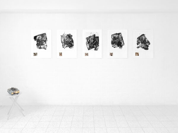 Kim Engelen, The Aftermath, Aftermath, No.1, 2, 3, 4, 5 (Sculptures) + No.6 (Book), 1993
