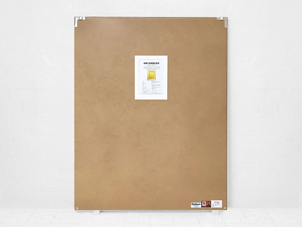 Kim Engelen, Ergere dicht nicht, wundere dich nur, Framed Silkscreen No.6, Edition 17, Backside, 1996