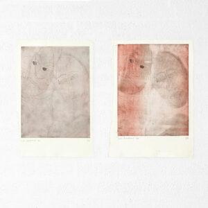 Kim Engelen, Ilse & Gerben—Detail No.5. And Ilse & Gerben—Detail No.6. Brown Etchings, 1997