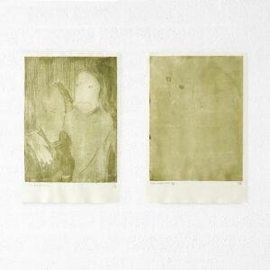 Kim Engelen, Ilse & Gerben—Detail No.1. And Ilse & Gerben—Variation No.1. Green Etchings, 1997