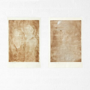 Kim Engelen, Ilse & Gerben—Detail No.2. And Ilse & Gerben—Variation No.2. Brown Etchings, 1997