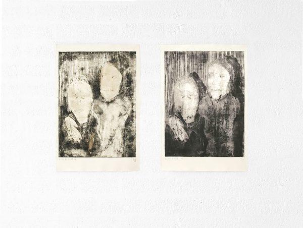 Kim Engelen, Ilse & Gerben—Variation No.3. And Ilse & Gerben—Variation No.4, Etchings, 1997