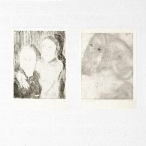 Kim Engelen, Ilse & Gerben—Variation No.8 and Ilse & Gerben—Detail No.3, Etchings, Overviewshot, 1997