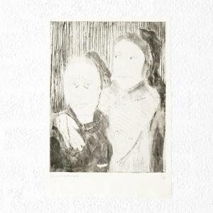 Kim Engelen, Ilse & Gerben—Variation No.8, Etching, 1997