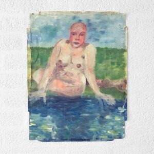 Kim Engelen, Woman by the Water, Oil on Paper, 1995