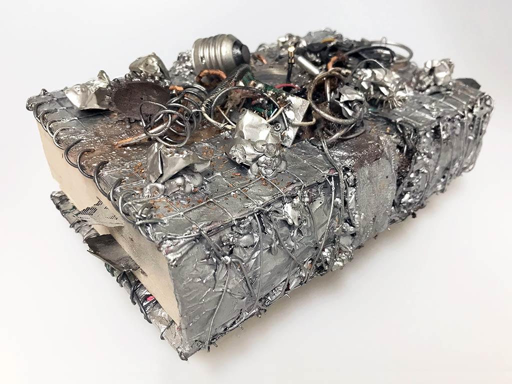 Kim Engelen, Aftermath No.6 (Book Sculpture), Sideview, 1993