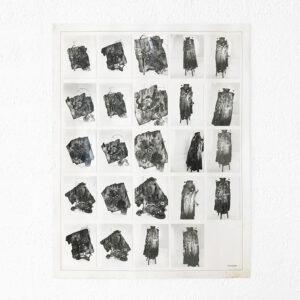 Kim Engelen, Aftermath No. 8, 24 Photographs (Mix of Sculptures & Cloak), 1993