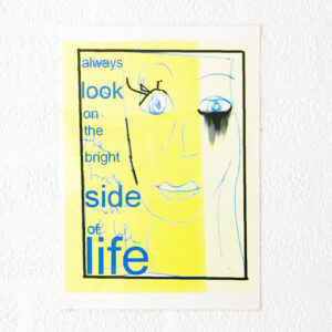 Kim Engelen, Always Look on the Bright Side of Life, Computer Drawing, Laminated Print, 1996