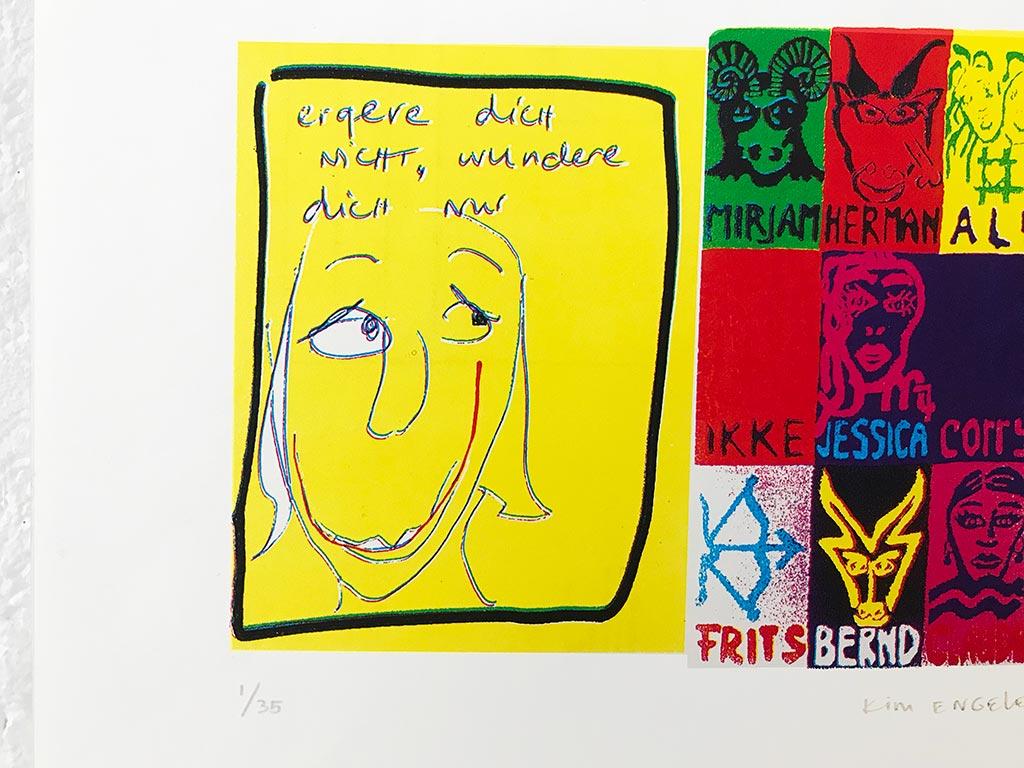 Kim Engelen, Mix of 4 Postcards, Silkscreen, 1999