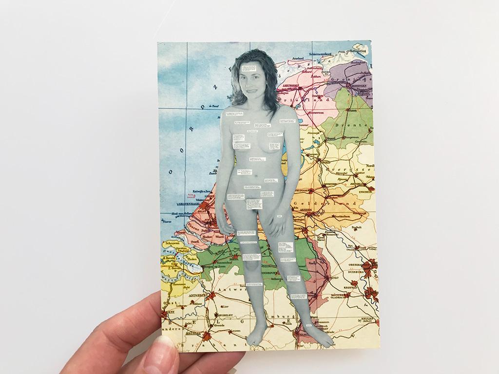 Kim Engelen, Omschrijf een Kunstenaar (Describe an Artist), Postcard, 1999