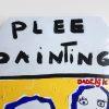 Kim Engelen Plee Painting (Privy Painting), Ready Set Go, Acrylics on Toilet Seat, Detail 1, 1998