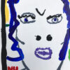 Kim Engelen Plee Painting (Privy Painting), Ready Set Go, Acrylics on Toilet Seat, Detail 2, 1998