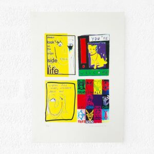 Kim Engelen, Mix of Postcards, Silkscreen, 1999