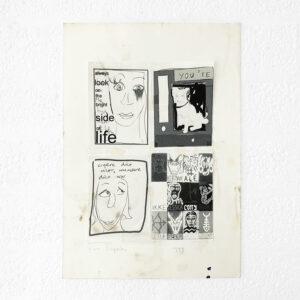 Kim Engelen, Postcards-Mix, Silkscreen + Paper (Black & White), 1999