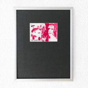 Kim Engelen, De Bokkepruik (The Bucks Wig) No.6, Drawing, Ecoline, Indian-ink, Charcoal, (Framed), 2021