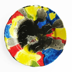Kim Engelen, Earth Plates Reconnect, Series Painted Plates, Earthenware, 1999