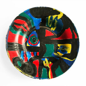 Kim Engelen, Hello I found Australia, Series Painted Plates, Earthenware, 1999