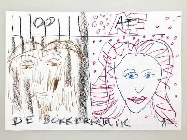 Kim Engelen, De Bokkepruik (The Bucks Wig), Drawing No.2, Web Example, 2021