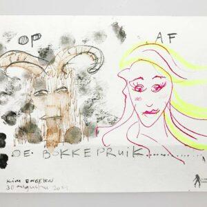 Kim Engelen, De Bokkepruik (The Bucks Wig), Drawing No.3, Web Example, 2021