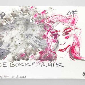 Kim Engelen, De Bokkepruik (The Bucks Wig), Drawing No.5, Web Example, 2021