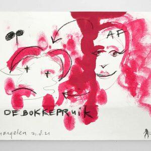 Kim Engelen, De Bokkepruik (The Bucks Wig), Drawing No.6, Web Example, 2021
