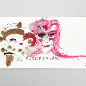 Kim Engelen, De Bokkepruik (The Bucks Wig), Drawing No.7, Web Example, 2021