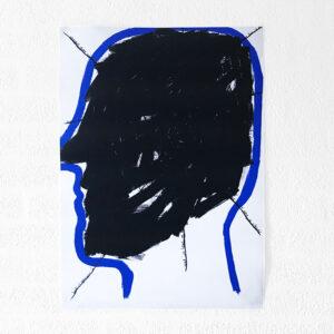 Kim Engelen, Networks, Acrylic on Canvas, 1997, Black Head, Poster, 2021