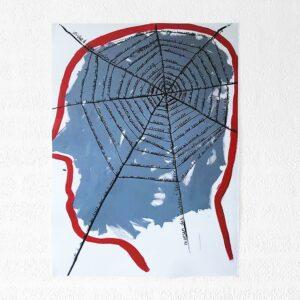 Kim Engelen, Networks, Acrylic on Canvas, 1997, Gray Head, Poster, 2021