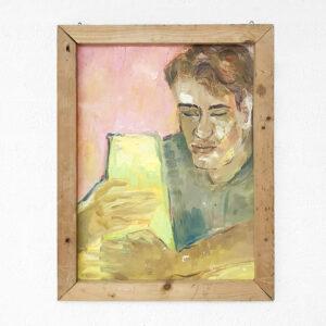 Kim Engelen, Bernd Claying, Oil on Paper (Framed), 1995