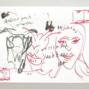 Kim Engelen, De Bokkepruik (The Bucks Wig) No.1, Drawing, Ecoline, Indian-ink, 2021