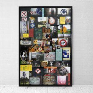 Kim Engelen, Dog Friendly Environment, Framed Collage, 1998