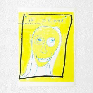 Kim Engelen, Ik zie Wel (I'll see), Computer Drawing, Laminated Print, 1996