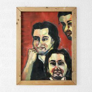 Kim Engelen, Patricio, Oil on Paper (Framed), 1995