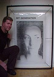 Peter Bielars with Art Work by Kim Engelen